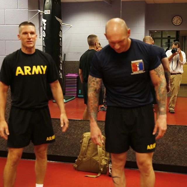 At a 5:30AM workout with Staff Sgt  Joseph Fontenot