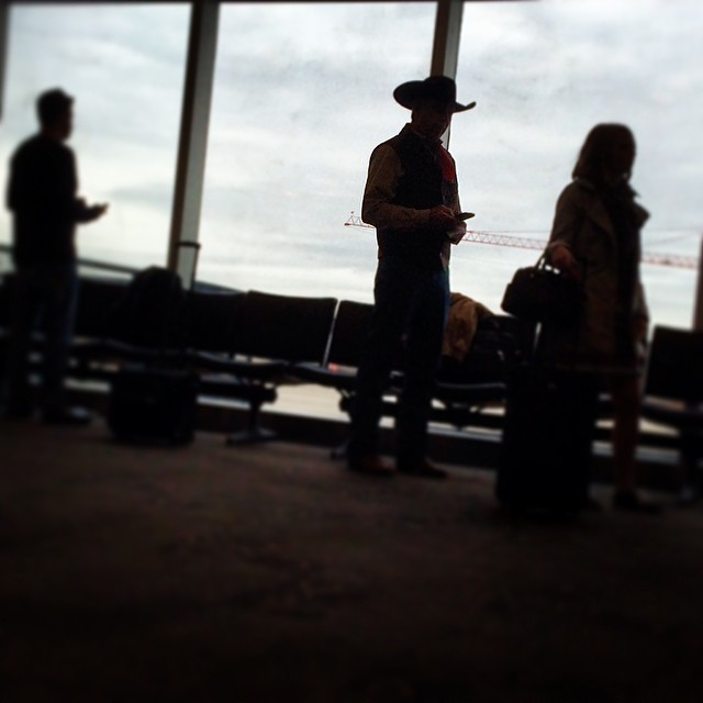 Of course there was a cowboy on the flight between Houston & Dallas