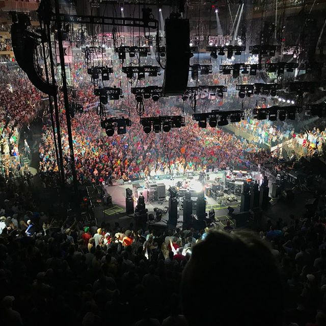 I was kind of skeptical about getting seats behind the band but one of the benefits was getting to see the crowd lose its collective mind throughout the show