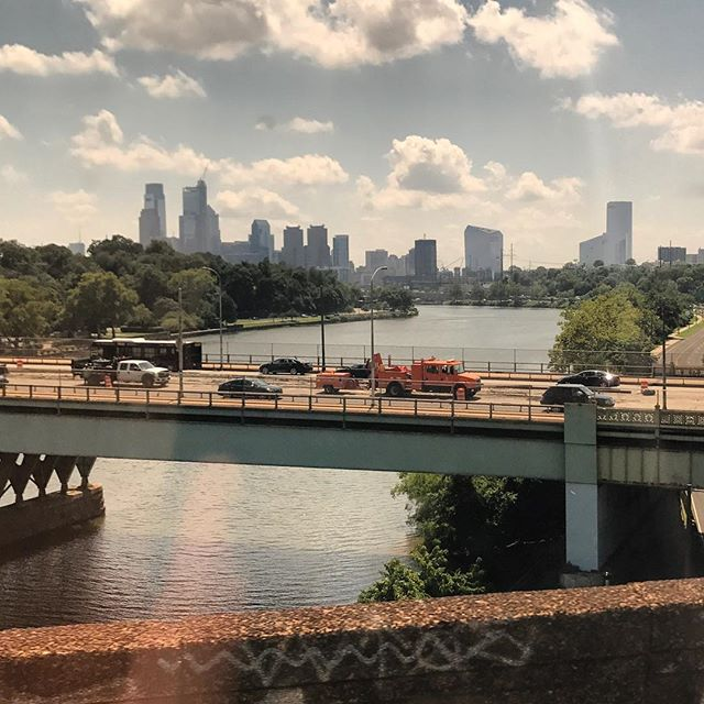 Philadelphia from the the train