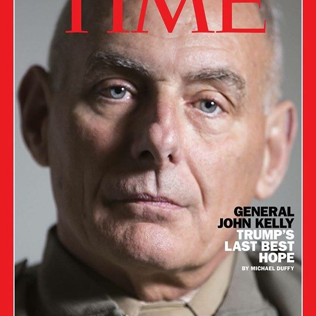 I was excited to find out this morning that a photo I took of John Kelly when I was on staff @militarytimes made the cover of @time this week. Not a bad way to kick off a Thursday!