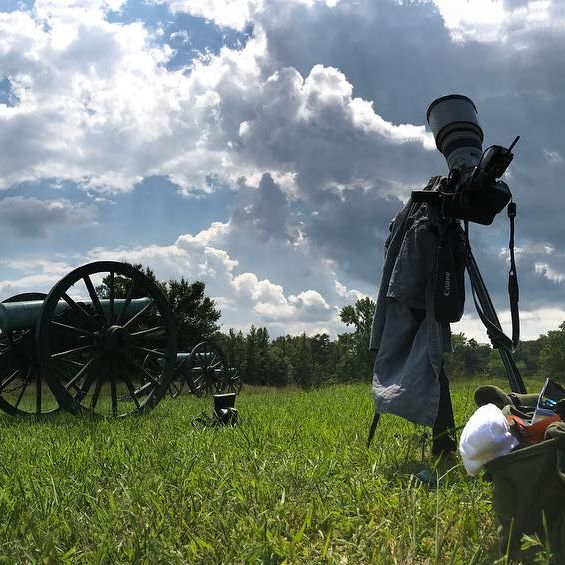 My spot for the eclipse, Chancellorsville Battlefield, Spotsylvania Va