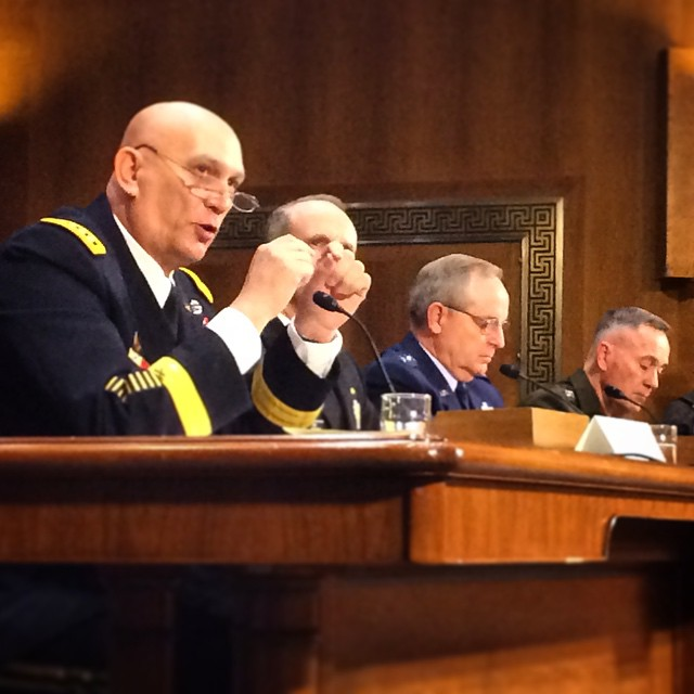 The Joint Chiefs appear before the Senate Armed Services Committee